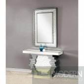 Tempeste Mirrored Console Table