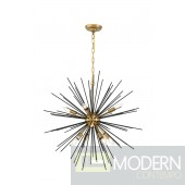 Essen 8 light Brass and Black pendant lamp Pendant
