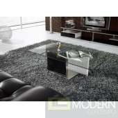 Modrest CJ096A Modern Black and White Glass Coffee Table