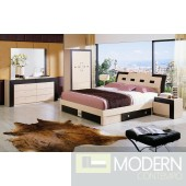 Modrest Concorde Modern Bed with Storage Set