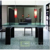 Valentina Extension Glass Dining Table