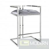 Chiara Silver Satin stool