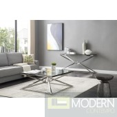 Xander Modern Square Glass Coffee Table