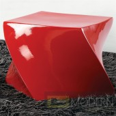 Cube Ottoman, Red