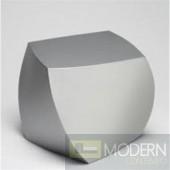 Cube Ottoman, Silver
