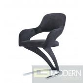 Set of 4 Black Velvet Dining Chairs