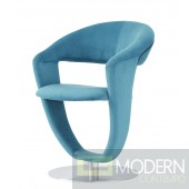 Set of 4 Turquoise Velvet Swivel  Dining Chairs
