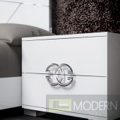 Guccio Nightstand White High Gloss *Made in italy