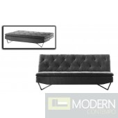 Divani Casa Darlow - Modern Tufted Fabric Sofa Bed