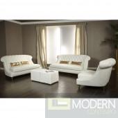 Maya Bellami Damario Tufted Leather 2PC Sofa Set