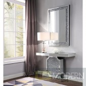Pascale Console Table in Mirror & Faux Diamonds