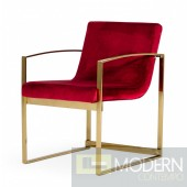Saint Paul Red Velvet Accent Chair