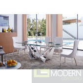 5Pc Novus Dining Table Set with Willow Chairs
