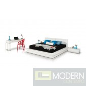 Modrest Prestige Modern White Lacquer Eastern King Bed