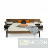 Modrest Rondo Modern Bed with Nightstands