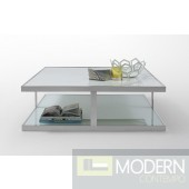 Modern Sasha White Marble Coffee Table