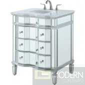 42 in. Single Bathroom Vanity set in antique silver