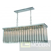 Opal Hang Polished Nickel Finish with Clear Crystal