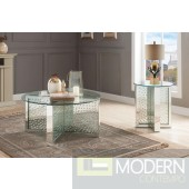 Galassia Mirrored and Faux Crystals coffee Table