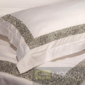 Auriel White Duvet Cover Set with crystals KING