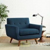 Engage Fabric Armchair Azure blue