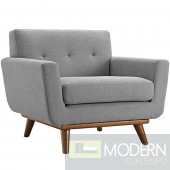 Engage Fabric Armchair Light grey