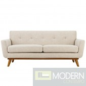 Engage Fabric Loveseat Beige