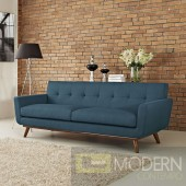 Engage Upholstered Sofa Azure Blue
