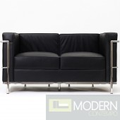 LC2 Le Corbusier Petit Loveseat in Genuine Leather