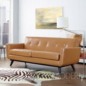 Engage Leather Loveseat Tan