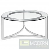 Signet Stainless Steel Glass coffee table