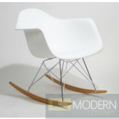 Plastic Molded Rocking Chair