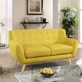 Remark Fabric loveseat Yellow