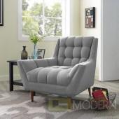 Response Fabric Armchair light grey