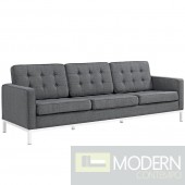 LOFT UPHOLSTERED FABRIC SOFA IN grey