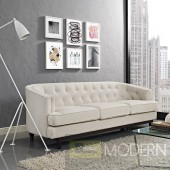 Mid Century Modern Coast Beige Sofa