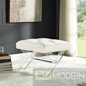 Velvet Paris Bench with Acrylic legs