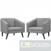 Set of 2 Grey Slide Accent chairs