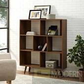 "Mid Century Modern 53"" Wooden Bookcase"