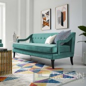 Corinne Button Tufted Performance Velvet Sofa