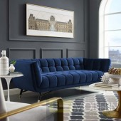 ADELIA UPHOLSTERED VELVET SOFA IN MIDNIGHT BLUE