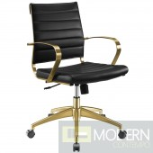 Elevate Stainless Steel Midback Office Chair in Gold Black