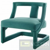 Adriel Velvet Lounge Chair Teal
