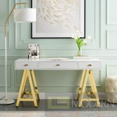 Champ De Mars Office Desk in Gold White
