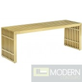 Agosto Medium Stainless Steel Bench GOLD