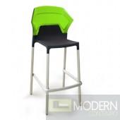 Trans green back, black seat