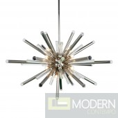 Glacier 14 Light Crystal Chandelier In Polished Nickel With Royal Cut Clear Crystal 38""