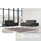 1373 Grey Sofa & Loveseat Set