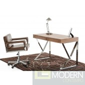 Modrest Ferris Modern Walnut Office Desk