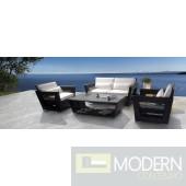 Renava H7 Modern Dark Patio Set